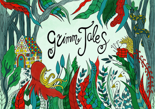 Grimm Tales  Illustration commisioned by  North Bridge House school, London.  They used it for their theatre play and invitations.