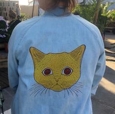 Cat  2 color print