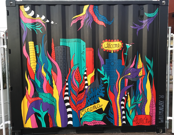 Painted container @Dot  paint  Groningen, 2017