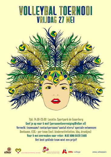 Poster announcement   In commision for Elker & JBN theme; Brasil