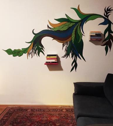 Mural   paint, ink  Groningen, 2018