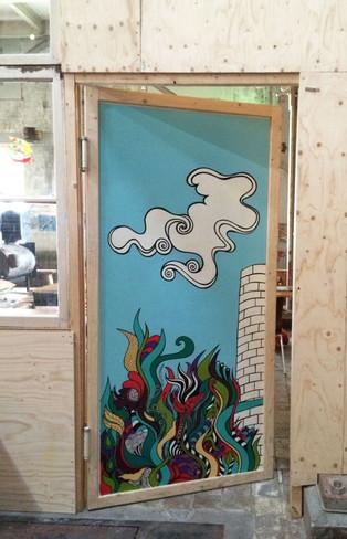 Painted doors @deWolkenfabriek  paint  2014