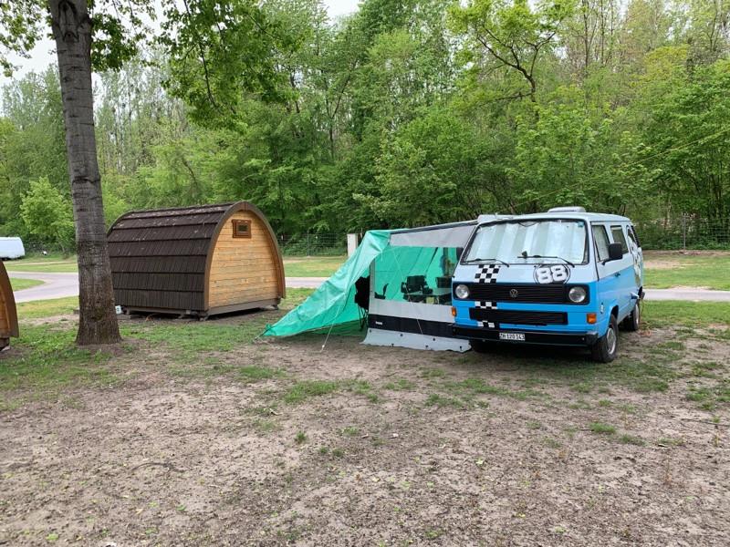 Cilli the Bulli auf dem TCS Camping in Salavaux.