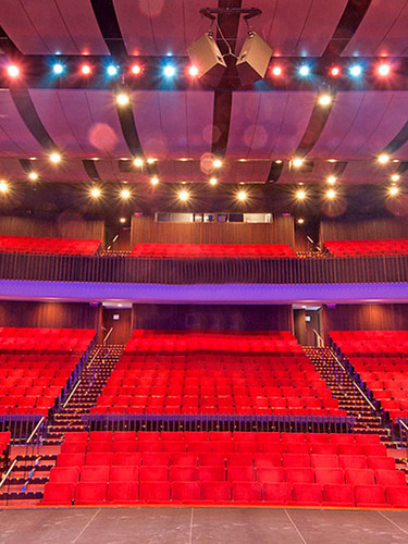 View of Hatheway Hall from Stage with Lights
