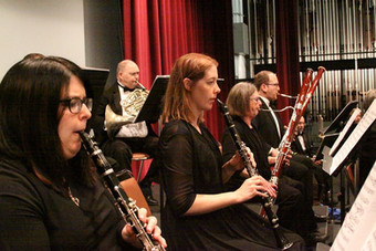 ASO Woodwinds and Horns During Rehearsal