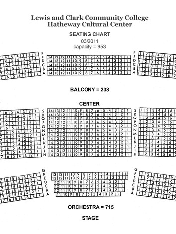 Hatheway Cultural Center Seating Chart