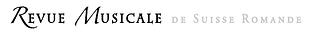 Logo Revue Musicale de Suisse Romande