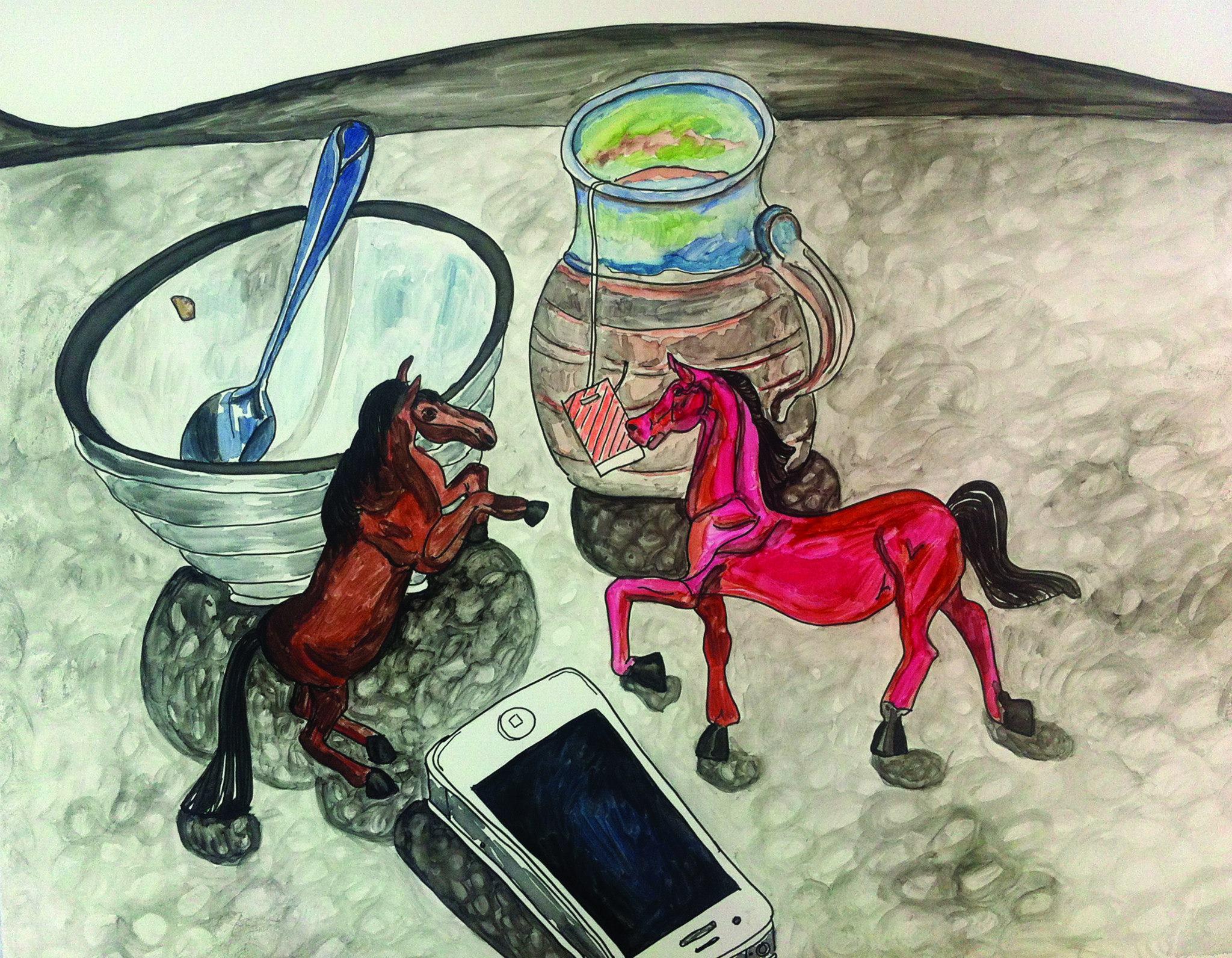 still life w ponies