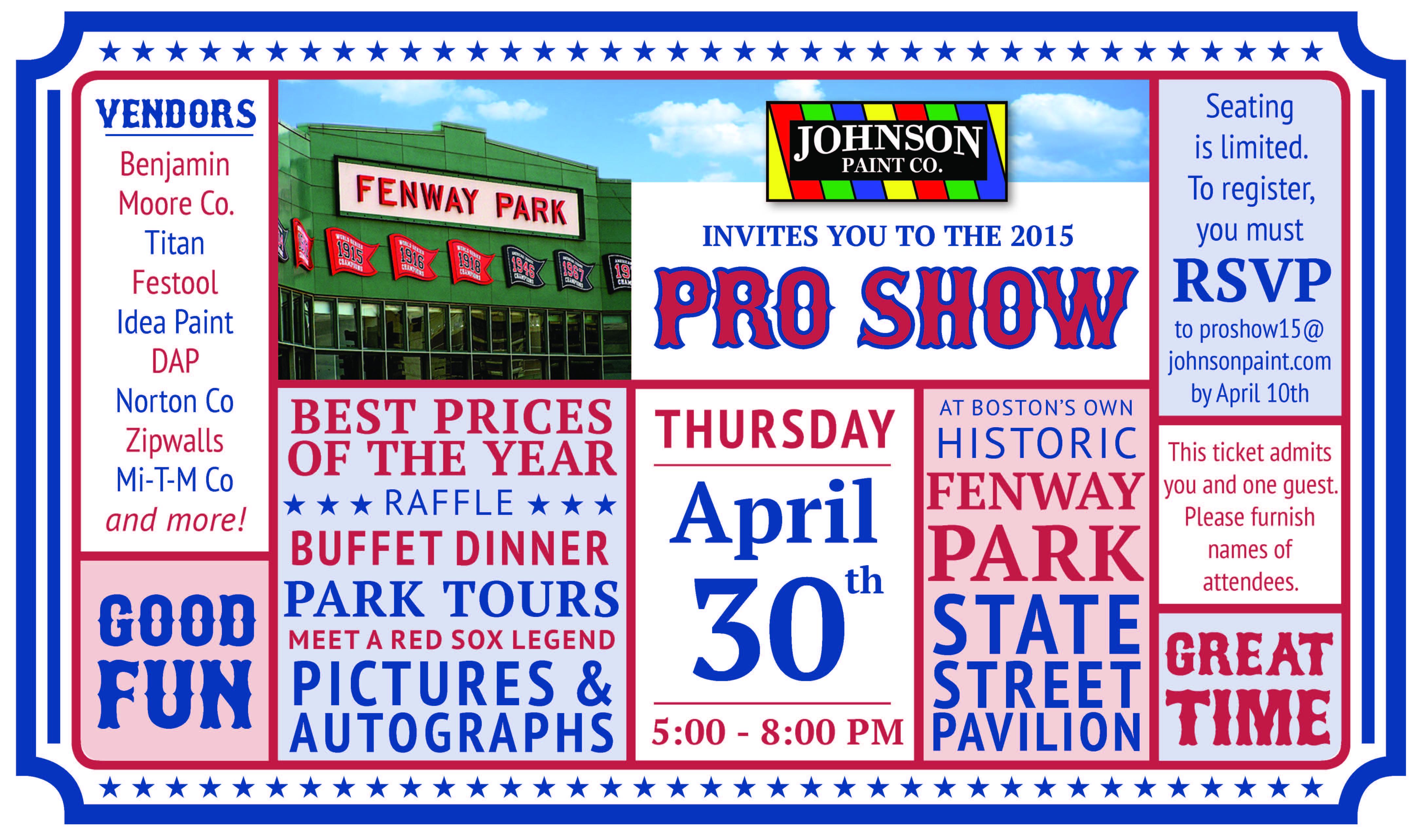 pro show invitation