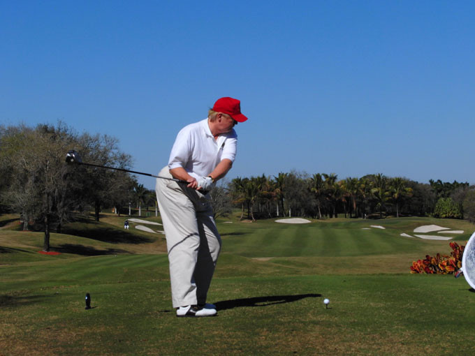 Trump finally lowers golf handicap