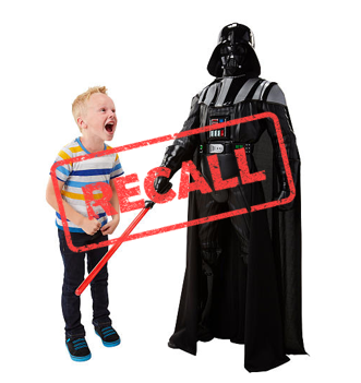 Tickle-Me Vader Toys Recalled for Choking Hazard