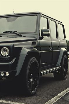 Mercedes G Class, with monster mags. Give it to me Kanye!