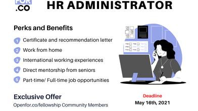 [Recruiting: Interns] Remote HR ADMINISTRATOR