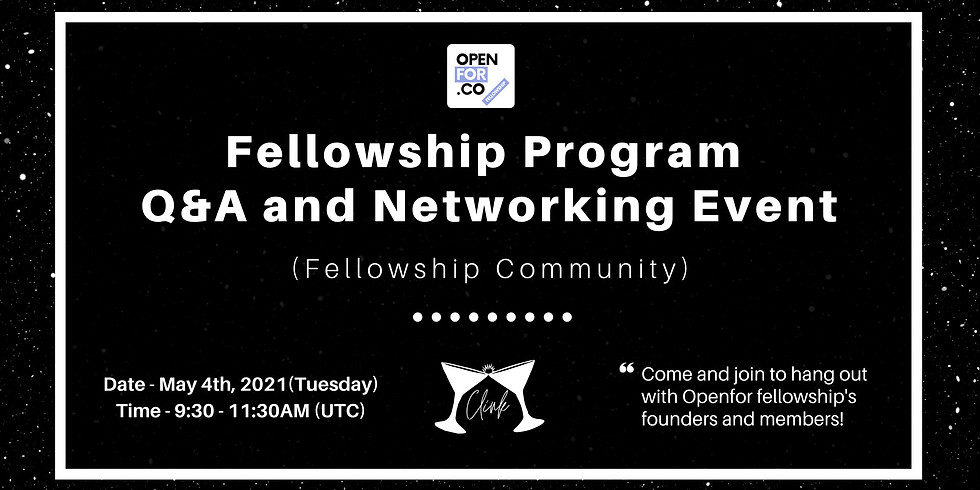 Fellowship Program Q&A and Networking Event