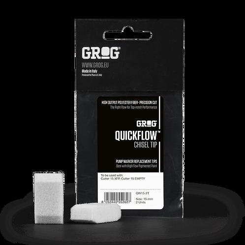 Grog Chisel Tip - Quickflow 15mm