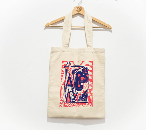 "Glow ""Pink and Blue"" Tote Bag"