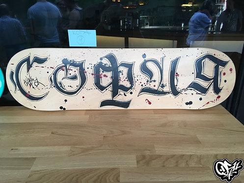 "Skate Deck ""Calligraphy"""