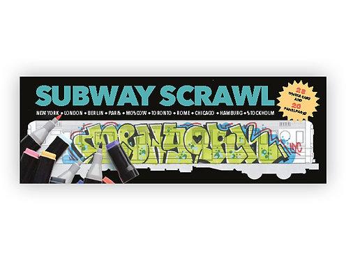 Urban Media Subway Scrawl colouring book