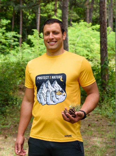 Resume Man T-shirt Camping