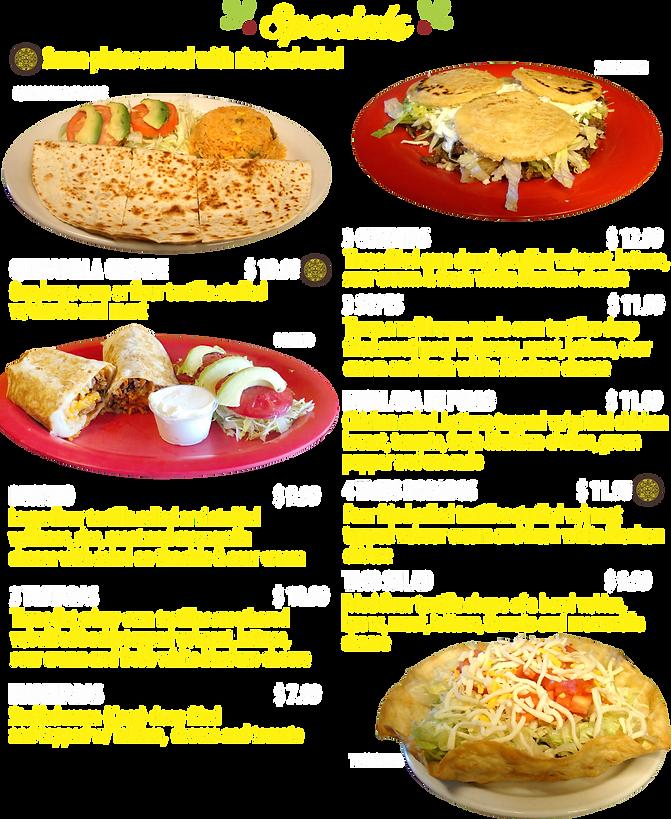 Mexican Food Specials