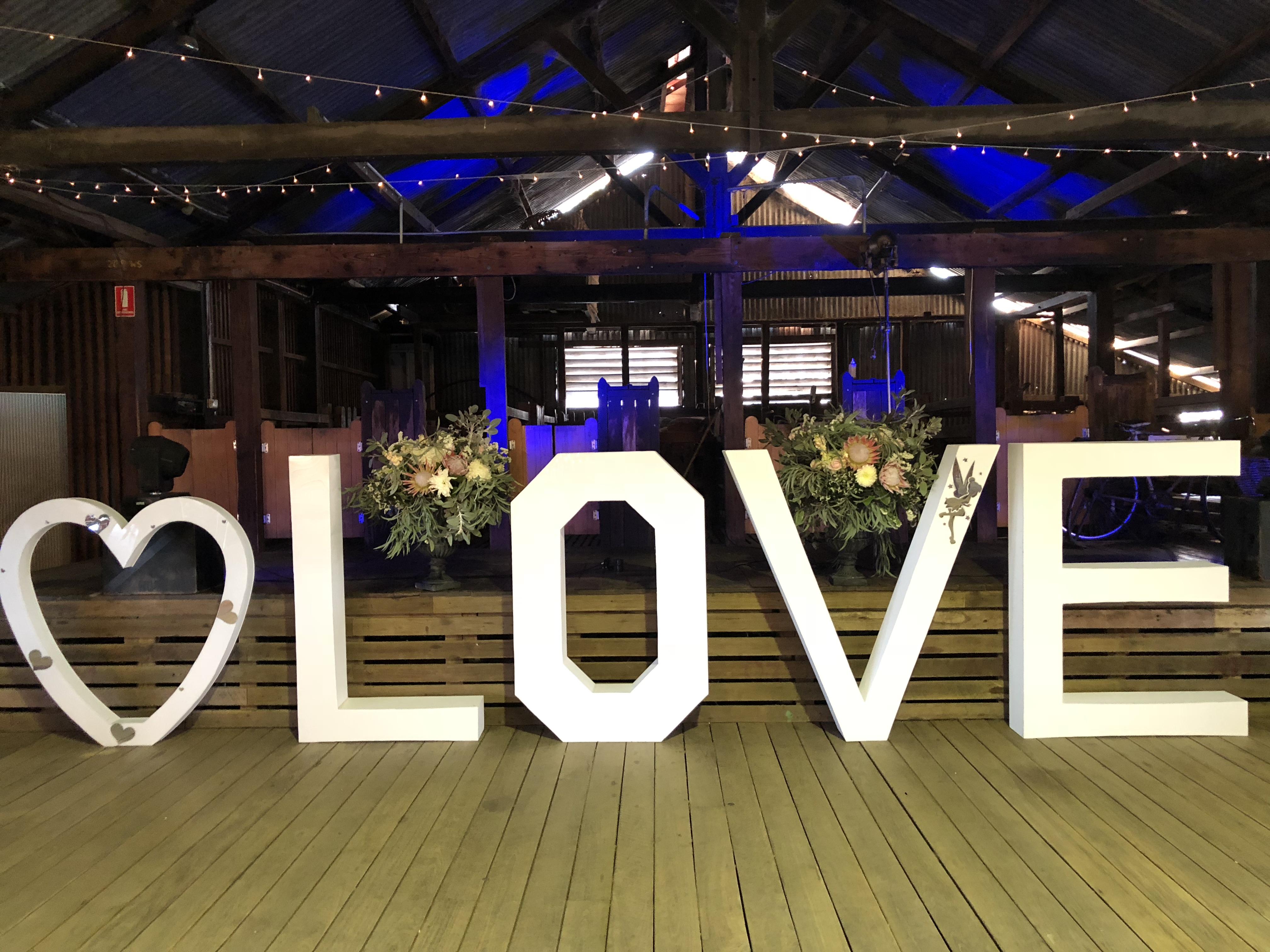 Light Up Love Letters Toowoomba Brisbane Ipswich