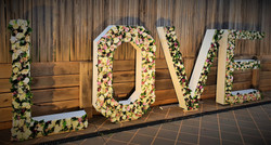 Giant Floral Letters