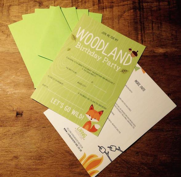 Woodland Party Invites