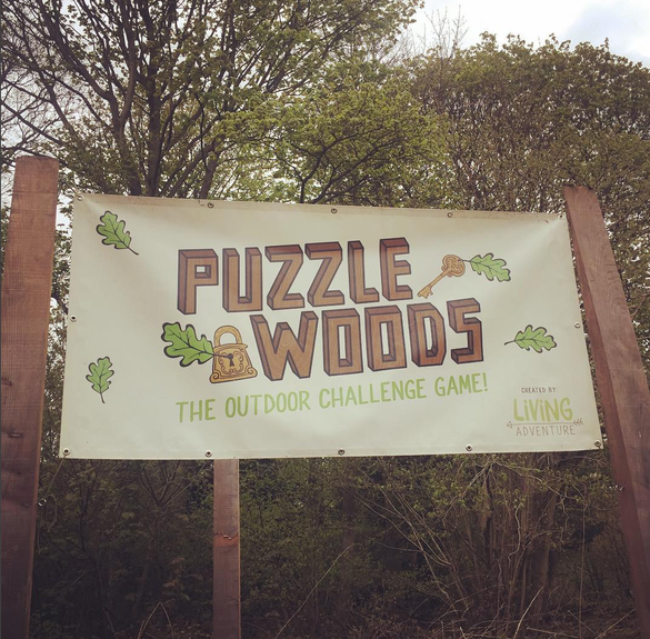 Puzzlewoods Main Sign