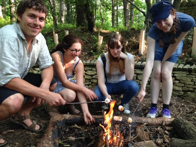 Round fire,marshmallows,Puzzlewoods