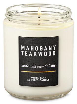 Mahogany Teakwood Single Wick Candle