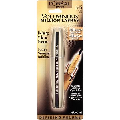 Voluminous Million Lashes Mascara Black Washable