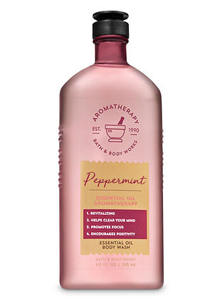 Aromatherapy Peppermint  Essential Oil Body Wash