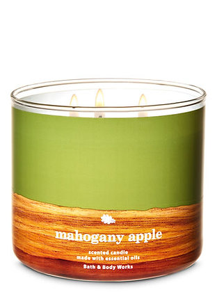Mahogany Apple 3-Wick Candle