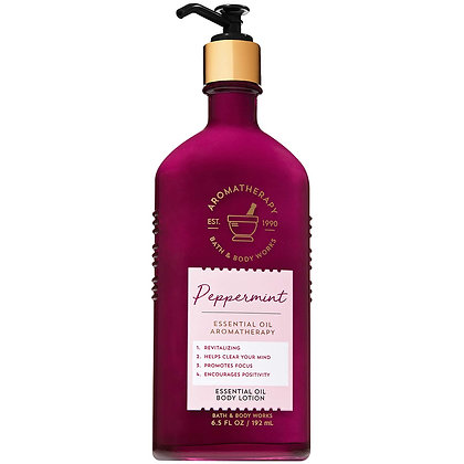 Aromatherapy Peppermint Essential Oil Body Lotion