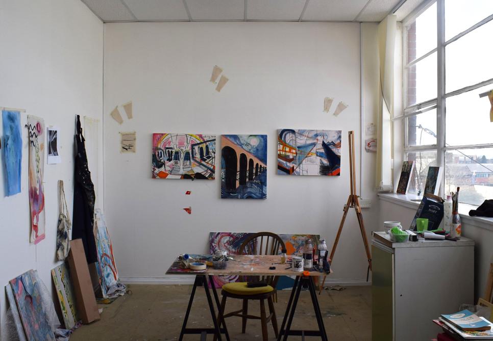 Bridgeton studio before lock-down.