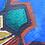 Thumbnail: Branch. Watercolour on khadi rag. 12 x 13 cm.