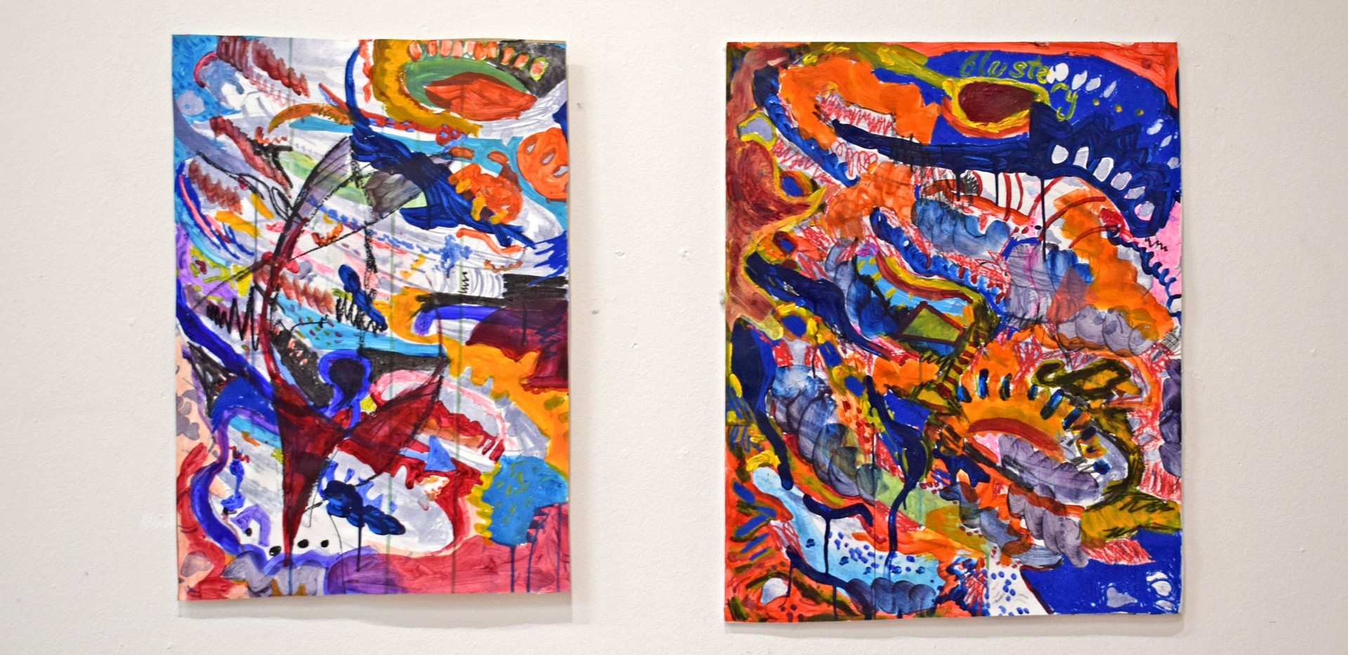 Contained Rhythm VII and Contained Rhythm VI. Private collection.