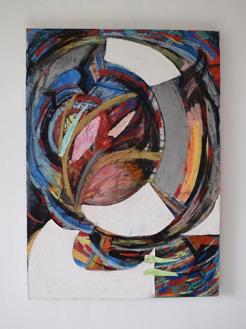 Swirl. Mixed media on canvas. 50 x 70 x 3cm. 2020.