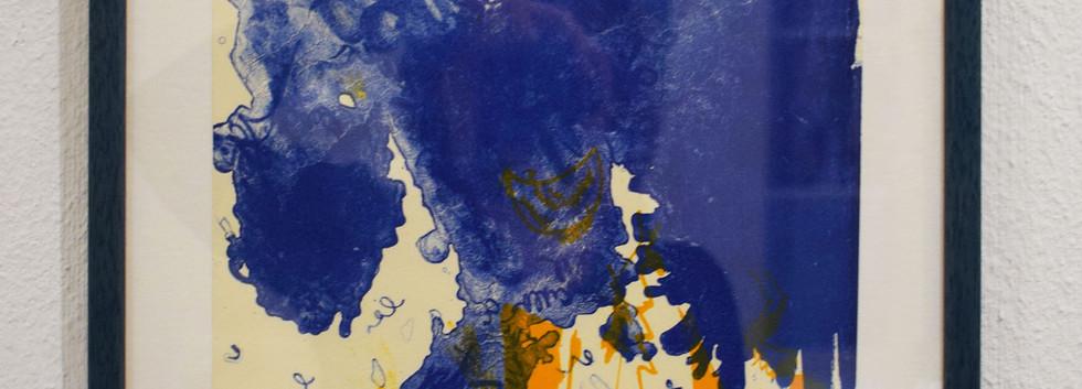 Storm. Framed lithograph. 32 x 45cm. 2019.