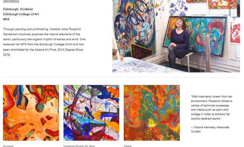 Selected Saatchi Art RIsing Star 2019. F