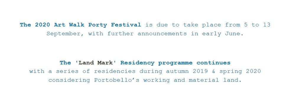 I was chosen to participate in Art Walk Porty 2020 (cancelled due to COVID19)