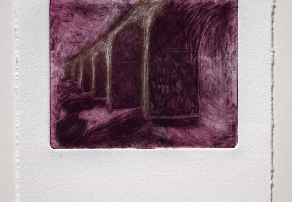 Viaduct. Mezzotint. 17 x 19cm. Private Collection.