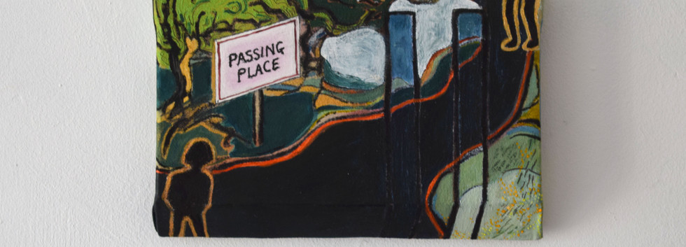 Passing Place. Oil, acrylic, watercolour