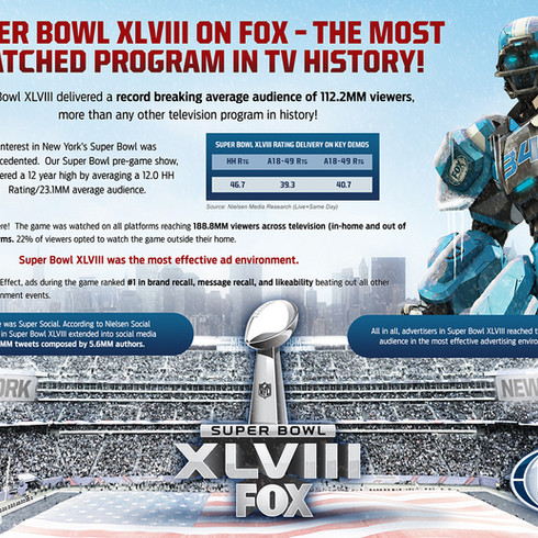 Super Bowl XLVIII One-Sheet