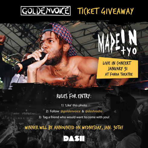 MadeinTYO Ticket Giveaway