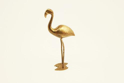 Plameňák/Brass flamingo