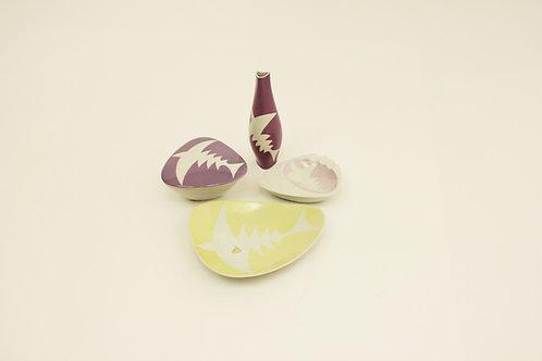 Porcelain set/Porcelánový set Ryby