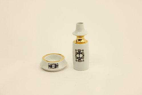 Vase and bowl/ashtray set/Váza a popelník