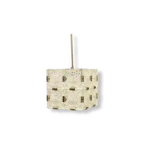 Glass cube pedant/Lustr krychle