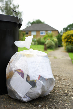 Wohngebiet Müll